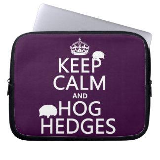 Protection Pour Ordinateur Portable Gardez le calme et accaparez les haies (hérissons)