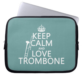 Protection Pour Ordinateur Portable Gardez le calme et aimez le trombone (toute