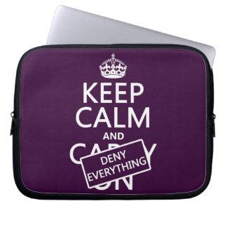Protection Pour Ordinateur Portable Gardez le calme et refusez à tout - toutes les