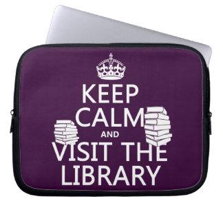 Protection Pour Ordinateur Portable Gardez le calme et visitez la bibliothèque - dans