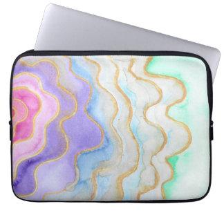 Protection Pour Ordinateur Portable Geode pour aquarelle multicolore