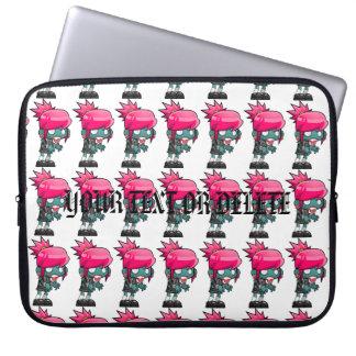 Protection Pour Ordinateur Portable Goule d'une chevelure rose géniale de fille de
