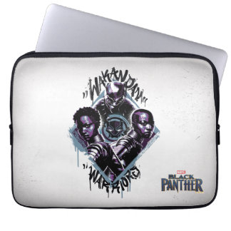 Protection Pour Ordinateur Portable Graffiti de guerriers de la panthère noire |