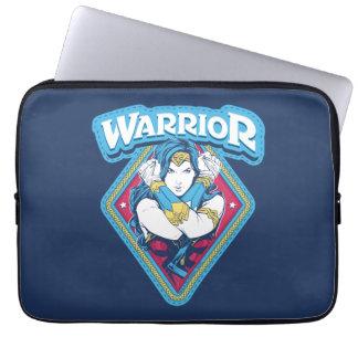 Protection Pour Ordinateur Portable Graphique de guerrière de femme de merveille