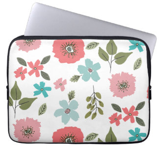 Protection Pour Ordinateur Portable Impression florale illustrée par main