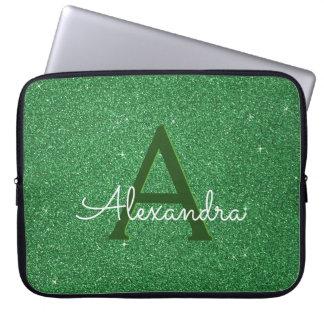 Protection Pour Ordinateur Portable Irlandais vert de monogramme de parties