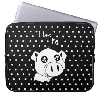 Protection Pour Ordinateur Portable J'aime la citation de porc