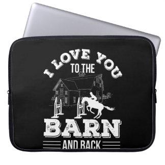 Protection Pour Ordinateur Portable Je t'aime de grange à l'équitation de retour