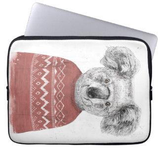 Protection Pour Ordinateur Portable Koala d'hiver (rouge)