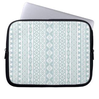 Protection Pour Ordinateur Portable L'Aztèque a stylisé (v) le bleu et le blanc