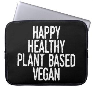 Protection Pour Ordinateur Portable Le plante sain heureux a basé le végétalien