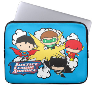 Protection Pour Ordinateur Portable Ligue de justice de Chibi d'explosion de