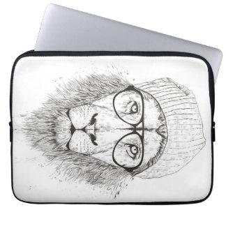 Protection Pour Ordinateur Portable Lion frais (noir et blanc)