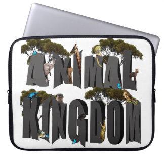 Protection Pour Ordinateur Portable Logo de règne animal avec des animaux, 15 pouces