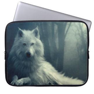 Protection Pour Ordinateur Portable Loup arctique - loup de forêt - loup de neige -