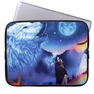 Protection Pour Ordinateur Portable Loup de Howlin - loup blanc - art de loup - loup