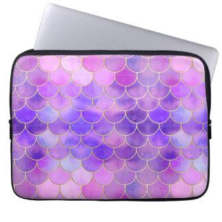 Protection Pour Ordinateur Portable L'ultraviolet et motif d'échelle de sirène d'or