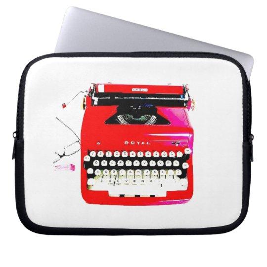 protection pour ordinateur portable machine crire de journaliste d 39 auteur de. Black Bedroom Furniture Sets. Home Design Ideas