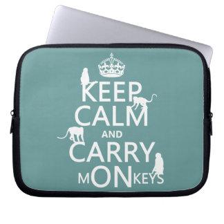 Protection Pour Ordinateur Portable Maintenez calme et portez les singes - toutes les