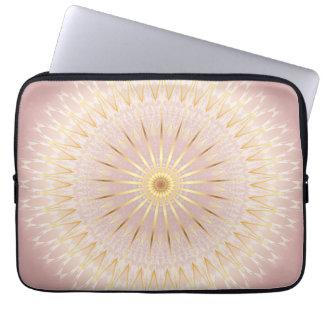 Protection Pour Ordinateur Portable Mandala rose d'or