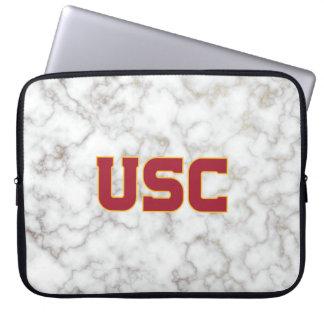 Protection Pour Ordinateur Portable Marbre blanc des Trojan | d'USC
