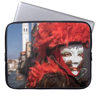 Protection Pour Ordinateur Portable Masque rouge de carnaval à Venise, Italie