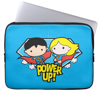 Protection Pour Ordinateur Portable Mise sous tension de Chibi Superman et de Chibi