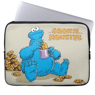 Protection Pour Ordinateur Portable Monstre vintage de biscuit mangeant des biscuits