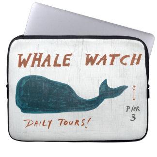 Protection Pour Ordinateur Portable Montre côtière de baleine de l'art |