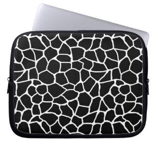 Protection Pour Ordinateur Portable Motif animal d'impression noir et blanc de girafe
