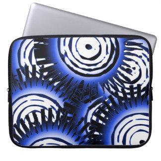 Protection Pour Ordinateur Portable Motif bleu des soleils