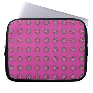 Protection Pour Ordinateur Portable Motif circulaire multicolore de roses indien