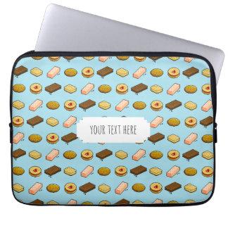 Protection Pour Ordinateur Portable Motif de biscuits et de biscuits d'art de pixel