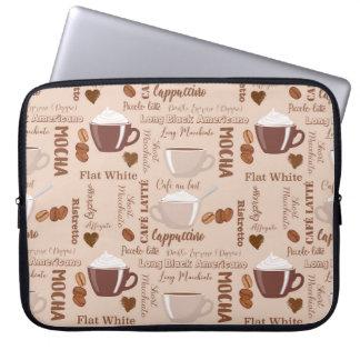 Protection Pour Ordinateur Portable Motif de cappuccino de Latte de café d'amusement