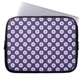 Protection Pour Ordinateur Portable Motif de point de polka - lavande pourpre violette