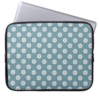 Protection Pour Ordinateur Portable Motif de point de polka - turquoise de beige de
