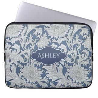 Protection Pour Ordinateur Portable Motif floral vintage avec le monogramme fait sur