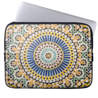 Protection Pour Ordinateur Portable Motif géométrique de tuile, Maroc