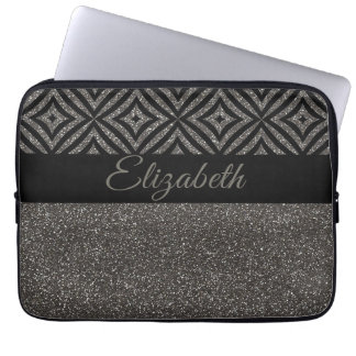 Protection Pour Ordinateur Portable Motif gris frais de noir de parties scintillantes
