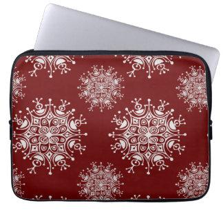 Protection Pour Ordinateur Portable Motif rouge de tempête de neige de flocons de