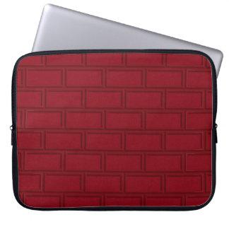 Protection Pour Ordinateur Portable Motif rouge frais de mur de briques de bande