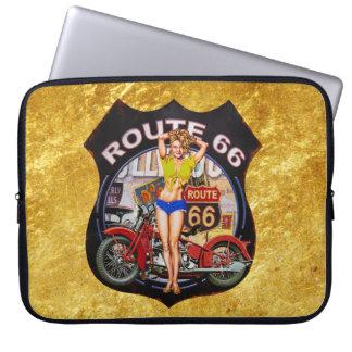 Protection Pour Ordinateur Portable Moto de l'itinéraire 66 de l'Amérique avec une