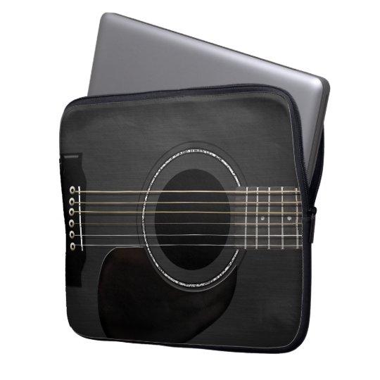 protection pour ordinateur portable noir de guitare. Black Bedroom Furniture Sets. Home Design Ideas