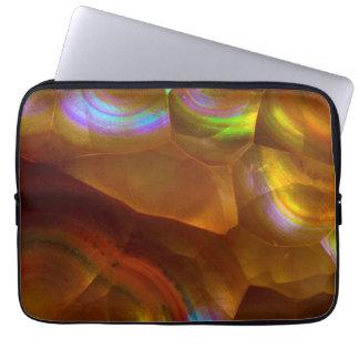Protection Pour Ordinateur Portable Opale de feu orange iridescente