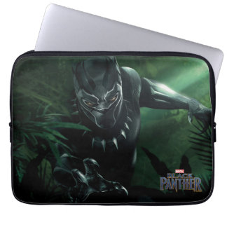 Protection Pour Ordinateur Portable Panthère noire   dans la jungle