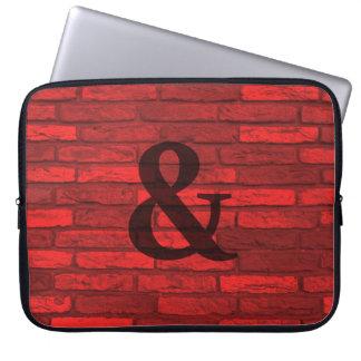 Protection Pour Ordinateur Portable Pays rustique blanc et rouge d'esperluète de