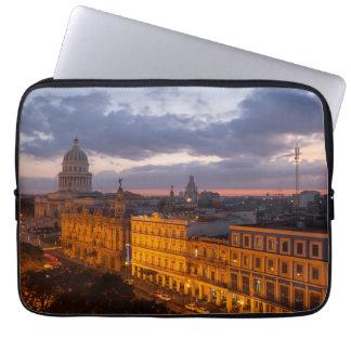 Protection Pour Ordinateur Portable Paysage urbain au coucher du soleil, La Havane,