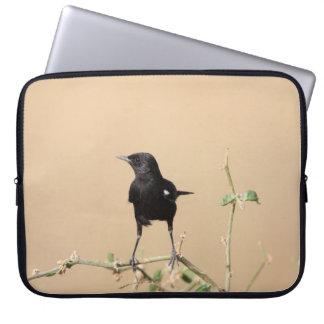 Protection Pour Ordinateur Portable Petit oiseau noir sur la branche de Bush