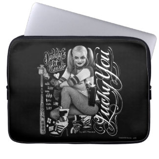 Protection Pour Ordinateur Portable Photo de typographie du peloton | Harley Quinn de