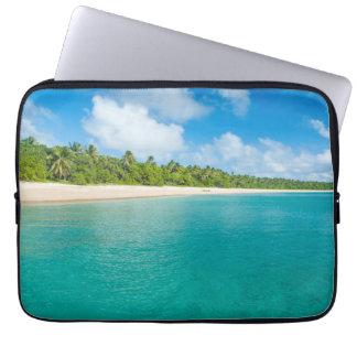 Protection Pour Ordinateur Portable Plage rayée par palmier, Tonga
